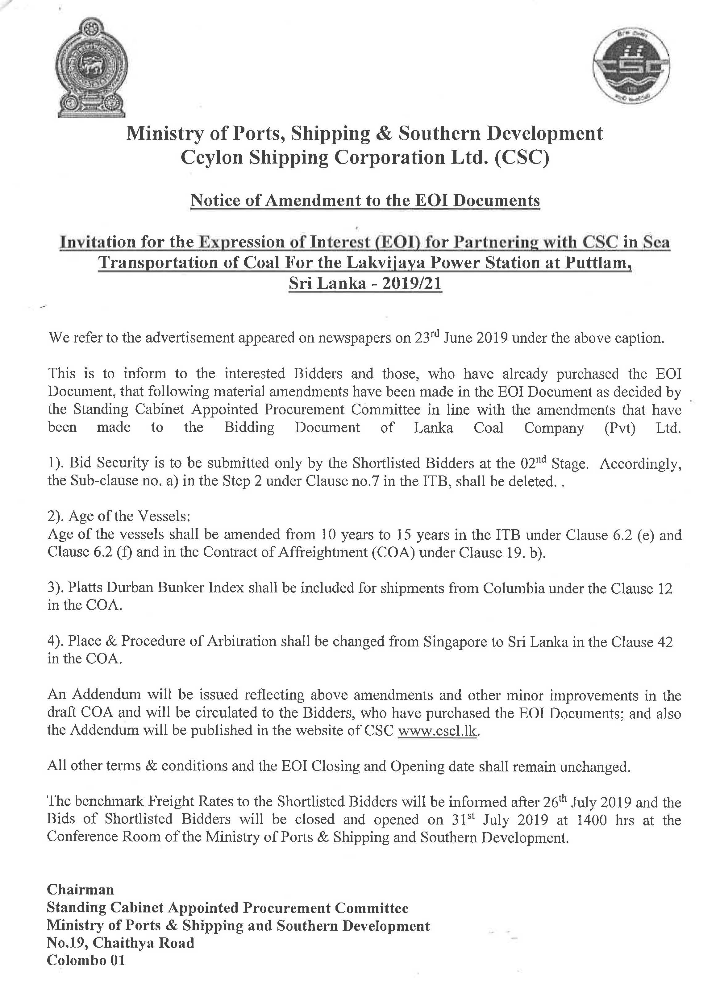 Cir 237 Selection of a suitable partner for shipping