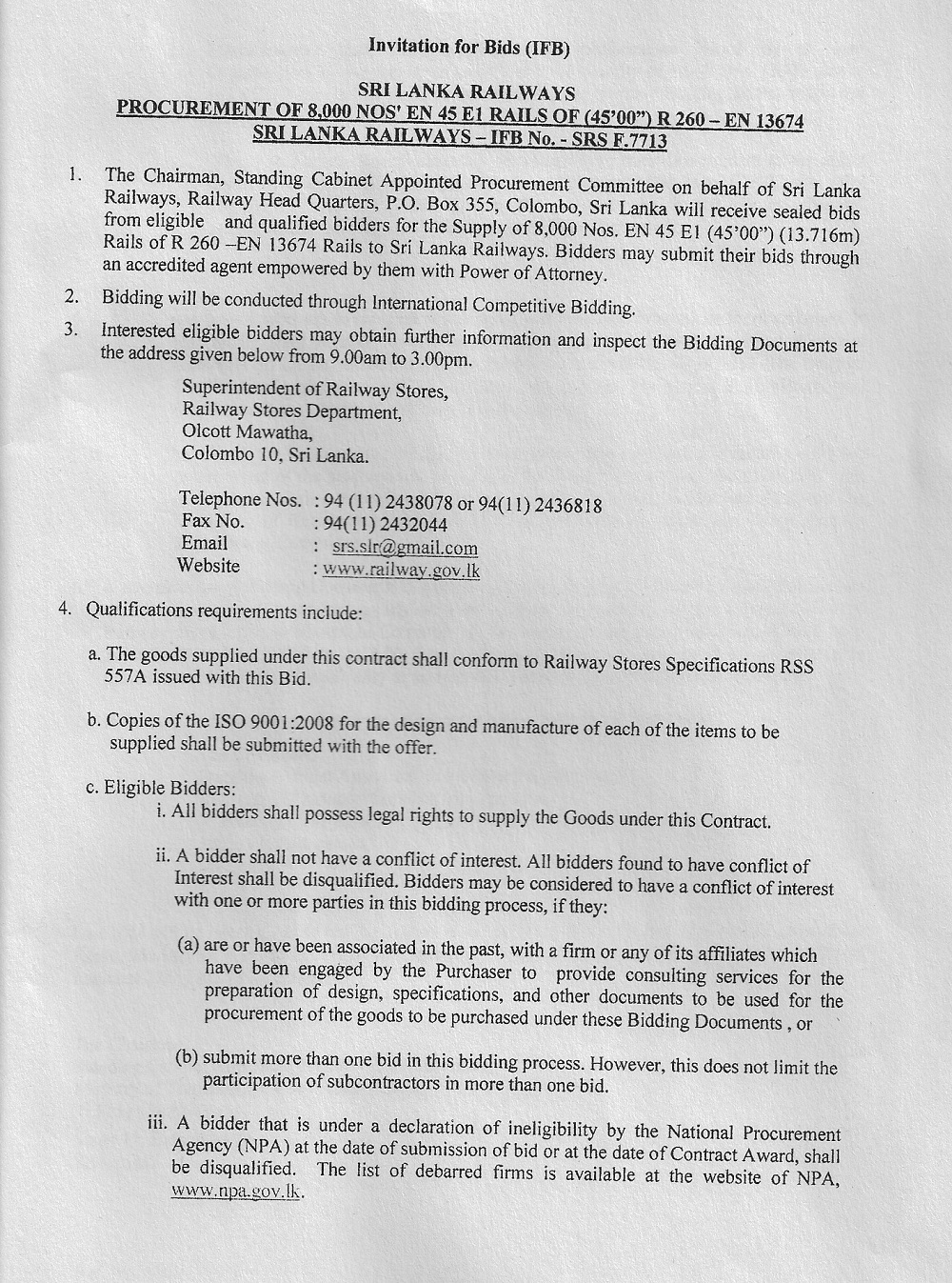 Procurement Notice Page 11