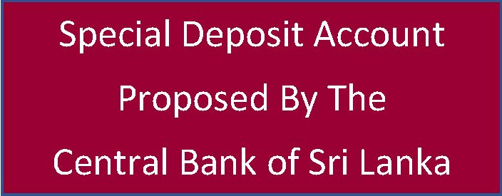 Special Deposit Account CB