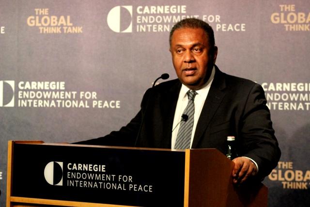 Foreign Minister Samaraweera Speaks At Carnegie Endowment For