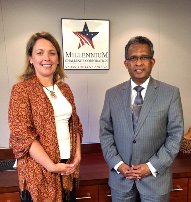 SRI LANKA EXPLORES PARTNERSHIP WITH THE US MILLENNIUM CHALLENGE CORPORATION