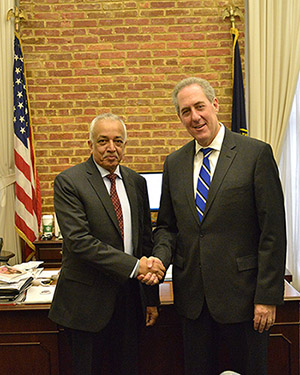 Minister Malik Samarawickrama meeting with the United States Trade Representative Ambassador Michael Froman